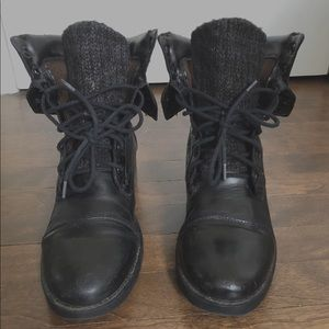 Madden Black Leather Boots
